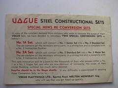 vogue conversion sets (meccanohig) Tags: steel vogue sets constructional
