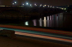 Memorial Bridge at night [EXPLORE] (WilliamMarlow) Tags: longexposure night virginia washingtondc dc memorial nocturnal tripod capital explore cc creativecommons dcist potomac lighttrails memorialbridge potomacriver leehouse lowlightphotography explored roberteleehouse d7000