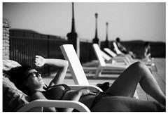 bright summer sun (gorbot.) Tags: blackandwhite bw f14 sicily poolside sunbathing roberta piazzaarmerina canoneos5d nikonfmount planar5014zf silverefex carlzeisszf50mmplanarf14 eosadaptor agriturismogigliotto