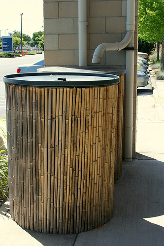 bamboo around water tank