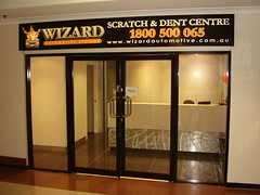 Dent Wizard - After aluminium glass door repairs