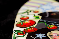 HAPPY TOMATOES! (Rozknob) Tags: macro art painting jocelyn skateboard roz acryilic shelfie yaknob