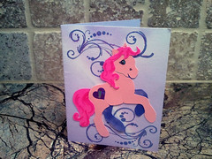 Pink Pony Congratulations Card