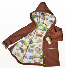vesteArmadillos (theLazyGiraffe) Tags: hoodie handmade canvas jacket armadillo organiccotton forsite childrenclothing