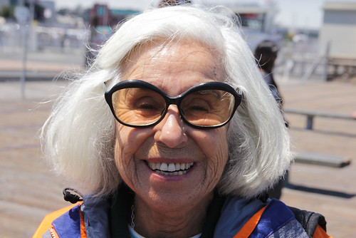 Smiling Grandma Fab Sunglasses White Hai by stevendepolo, on Flickr
