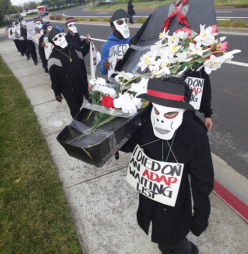 AIDS Protesters in Foster City