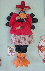 Galinha Maricota (Ma Ma Marie Artcountry) Tags: galinha handmade craft tecido bagholder cocs po puxasaco galinhapuxasaco alessandrasandez