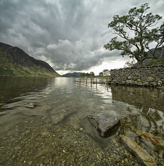 Crummock water (Jo Bowman) Tags: trees lake mountains reflection water clouds canon rocks district pebbles 60d 1020mmsigmalens