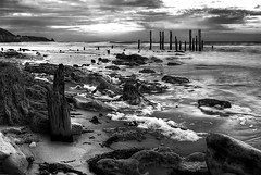 Pt Willunga Jetty (Ryan Carter Images) Tags: ocean old sea sky history water port sticks ancient ruins rocks waves jetty australia adelaide historical remains willunga