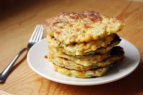 zucchini corn pancakes.