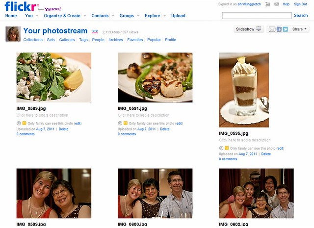 Flickr homepage screenshot