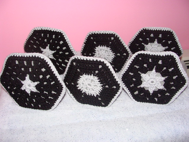 Crochet Granny Square Tie Fighters