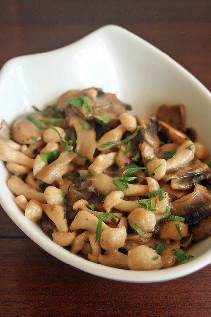 Apparently Singaporeans love the mushrooms (here with lemon and thyme)
