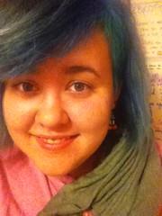 (Ty-Erin-Saurus Rex) Tags: portrait bluehair greenhair manicpanic multicoloredhair iphoneography