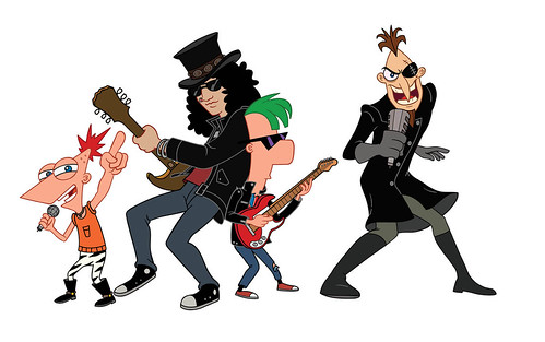 Phineas Ferb and Slash