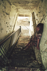 (yyellowbird) Tags: abandoned girl stairs hospital lolita missouri cari stmarys ironcounty ironton
