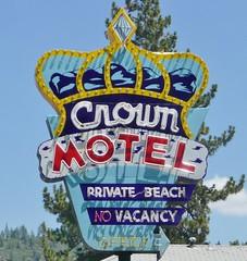 CROWN MOTEL KING'S BEACH CALIF (ussiwojima) Tags: california sign advertising neon motel kingsbeach crownmotel