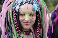 Rainbow Goddess (AincaArt) Tags: people woman beautiful germany deutschland rainbow jung stuttgart goddess young pride parade frau csd regenbogen göttin generationfuture mungga nikond7000 csdstuttgart generationzukunft politparade 3000aktiveteilnehmerinnen 3000activeparticipants 200000zuschauerinnen 200000spectators therainbowgoddessinheryoungappereance aincaart