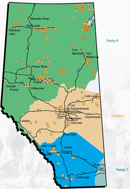 First Nations Alberta Map