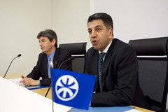 Press conference for the Signing of the MoU between UfMS and EIB (ahmadmasadeh) Tags: ahmad masadeh
