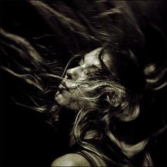 Frozen moment (Passie13(Ines van Megen-Thijssen)) Tags: portrait blackandwhite bw zwartwit sw schwarzweiss zw portet artistictreasurechest bestportraitsaoi —obramaestra— elitegalleryaoi inesvanmegen