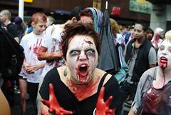 Stockholm zombie walk 2011 (Sean Lewthwaite) Tags: people flesh walking blood sweden stockholm zombie walk heads munching livingdead