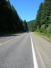 Winding up the Wind River Highway towards the now-demised Stabler Market control