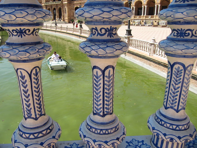 Plaza de Espana Seville boat