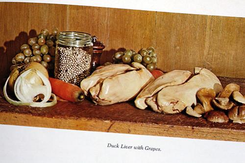 foie gras and grapes