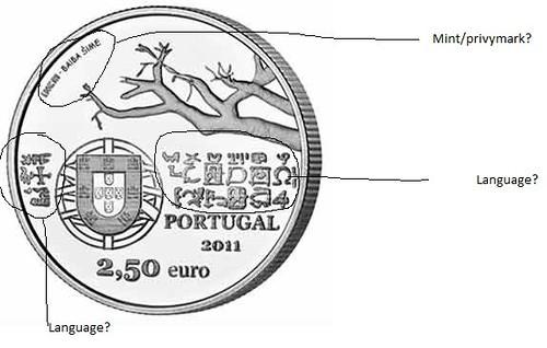 Portugal 2.50 Euro coin