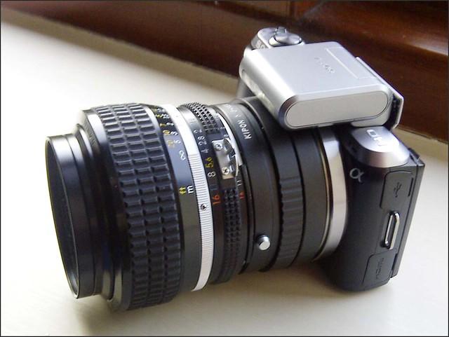 Sony NEX-C3 Nikon 50mm f/1.2 Manual Focus lens