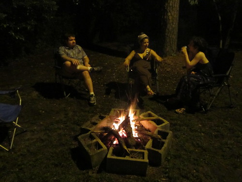 Hippies by a fire
