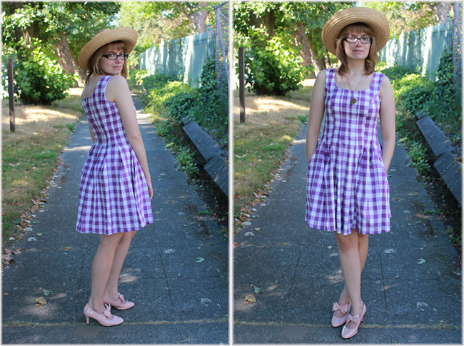 Sweet Gingham Duo, with Pockets!