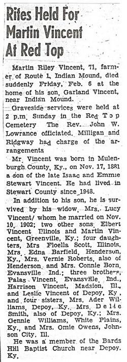 Martin Riley Vincent Obituary