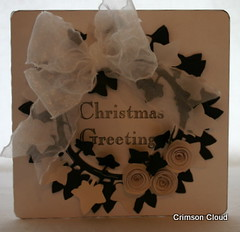 Monochrome Ivy Wreath (crimsoncloud.co.uk) Tags: christmascards crimsoncloud ivywreath