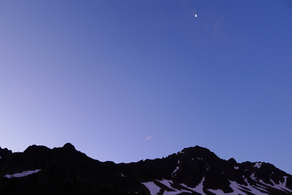 Moon above Snowgrass Mountain