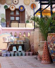 getting in trouble... (..Ania.) Tags: colorful handmade morocco pottery safi poterie