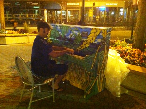 Downtown outdoor piano
