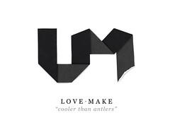LOVEMAKE Identity / Logo (Potatomo) Tags: paper logo identity folding lovemake