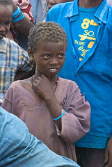A young girl in Dadaab