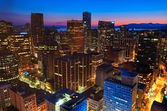 Downtown Vancouver Blue Hour (MagnusL3D) Tags: sunset night vancouver skyscraper nikon downtown britishcolumbia bluehour vancouverbc hdr d300 cityskape 1755mmf28 flickraward flickraward5 mygearandme mygearandmepremium mygearandmebronze mygearandmesilver mygearandmegold flickrawardgallery