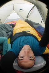 Camping at Lake Shikotsu, Hokkaido, Japan