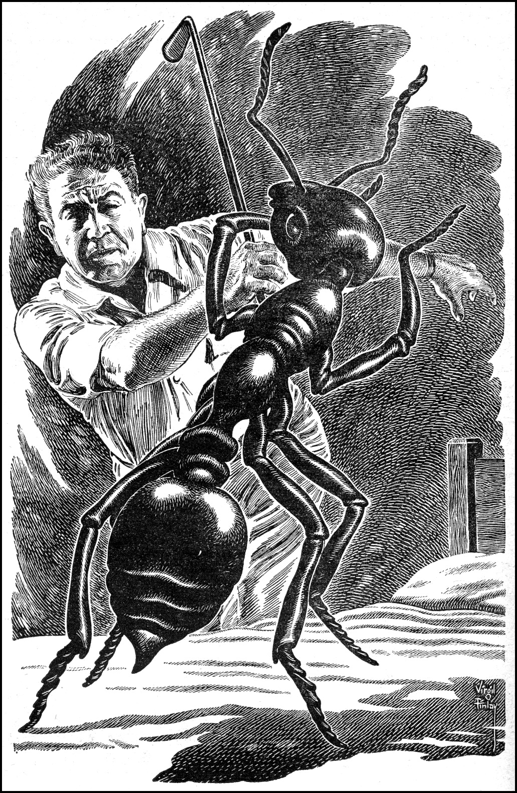 "Virgil Finlay, ""The Large Ant"""