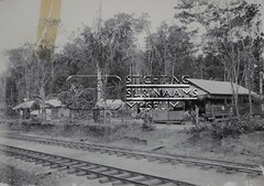 Spoorlijn met woningen