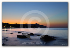 "Tramonto boreale a Portonovo ""EXPLORE"" (10323) (Danilo Antonini (Pescarese)) Tags: park longexposure travel blue sunset sea summer sky italy panorama favorite cliff parco seascape reflection beach nature water silhouette rock canon landscape eos twilight riviera italia tramonto mare waves estate natural blu natura tourist explore cielo acqua turismo riflessi conero viaggio spiaggia touring regional marche vacanza paesaggio adriatic onde adriatico ancona scogliera crepuscolo preferite boreale portonovo regionale naturale sagoma scoglio lungaesposizione imbrunire hloiday canonef24105f4lisusm pescarese canoneos5dmark2 mygearandme mygearandmepremium mygearandmebronze"