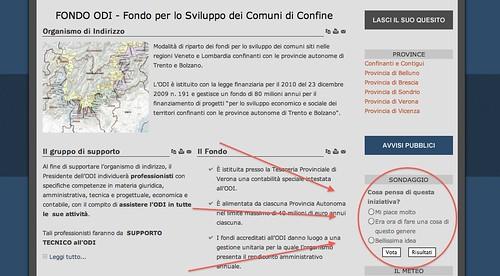 Sondaggio pubblicato sul sito http://www.fondoodi.it/it/