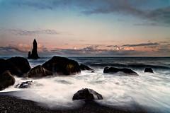 Reynisdrangar Sea Pinnacles (DavidBurstein) Tags: sea sky seascape nature clouds zeiss iceland rocks canon5d seastack waterscape distagon carlzeiss reynisdrangar leefilter canon5dmkii 09hardgrad zeissdistagont21mmf28 seapinnacles