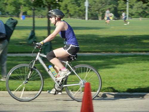 Erica on her bike