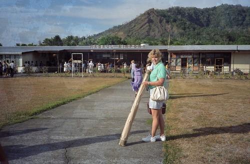 Rachel at Rabaul Airport