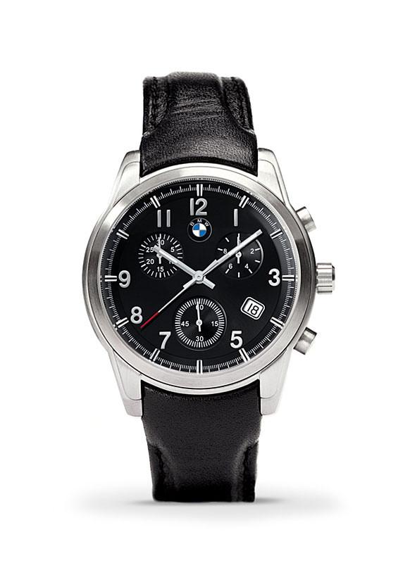 BMW Quartz Chrono Men's Watch - Black Leather Strap / ITEM:80-26-2-179-744